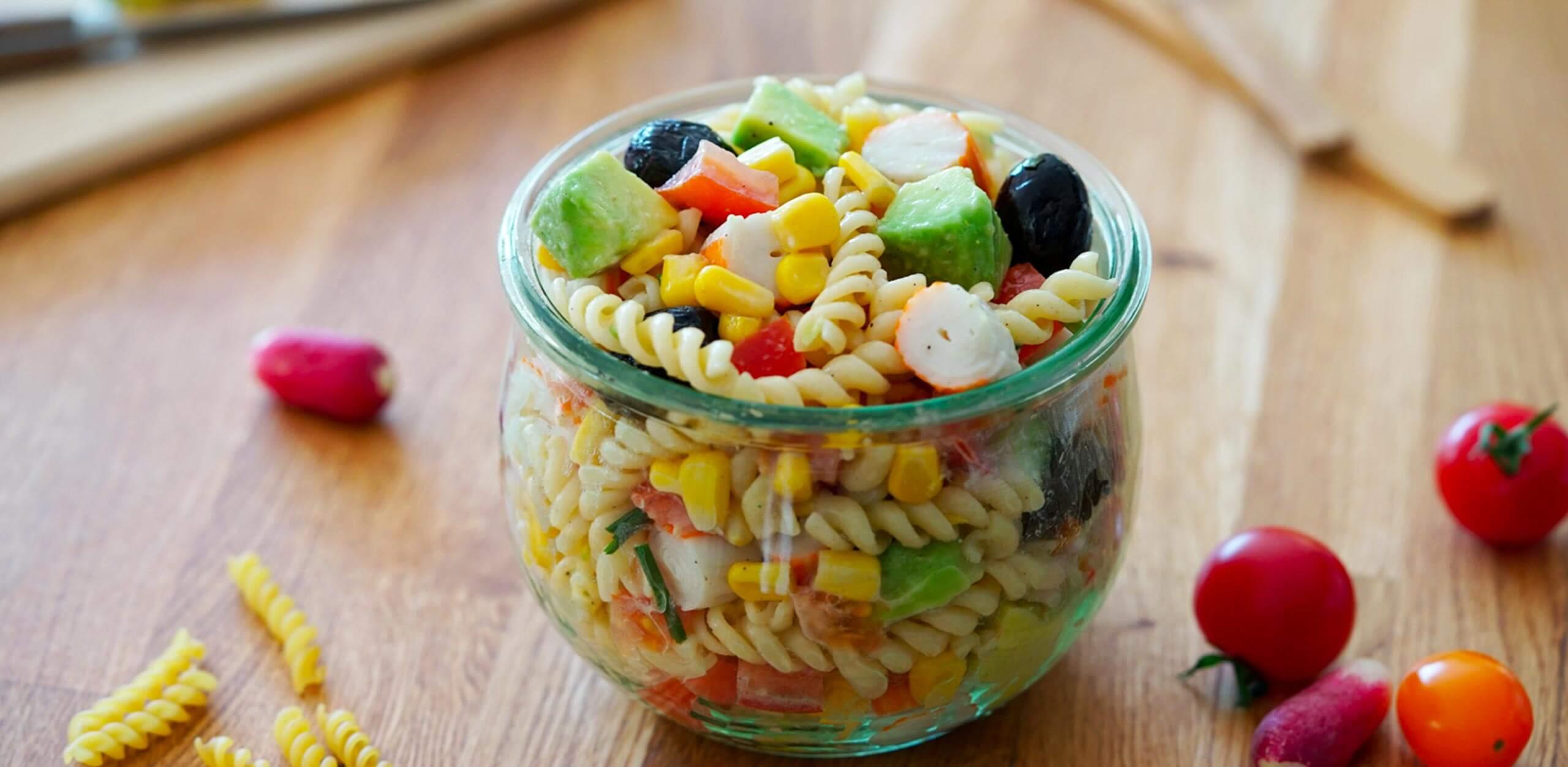 Salade d'été au surimi